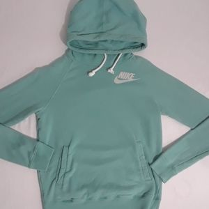 Nike Teal Blue Women's Hoodie Sweatshirt Small